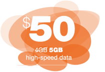 50 4GB 5GB High Speed Data Brazcom Wireless
